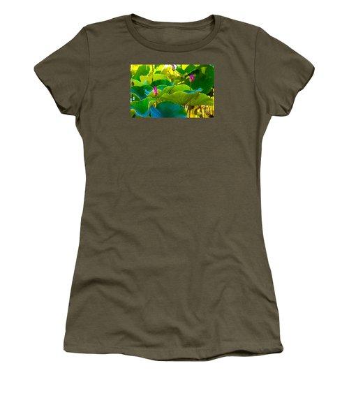 Lotus Garden Women's T-Shirt (Junior Cut) by Roselynne Broussard