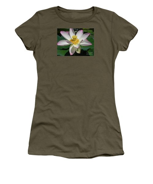 Women's T-Shirt (Junior Cut) featuring the photograph Lotus Flower by Chrisann Ellis