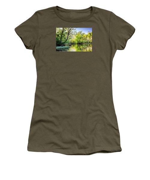 Louisiana Bayou Women's T-Shirt (Junior Cut) by Kathleen K Parker