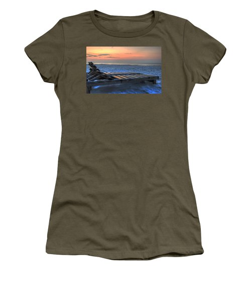 Lounge Closeup On Beach ... Women's T-Shirt