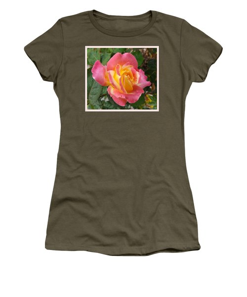 Love And Peace Women's T-Shirt (Junior Cut) by Sara  Raber