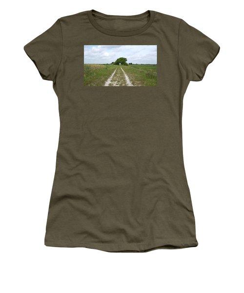 Loxahatchee Wildlife Refuge Women's T-Shirt (Junior Cut) by Ron Davidson
