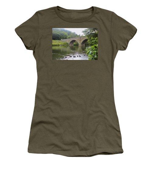 Women's T-Shirt (Junior Cut) featuring the photograph Ludlow Bridge by John Williams