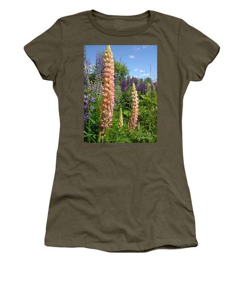 Women's T-Shirt (Junior Cut) featuring the photograph Lupin Summer by Martin Howard