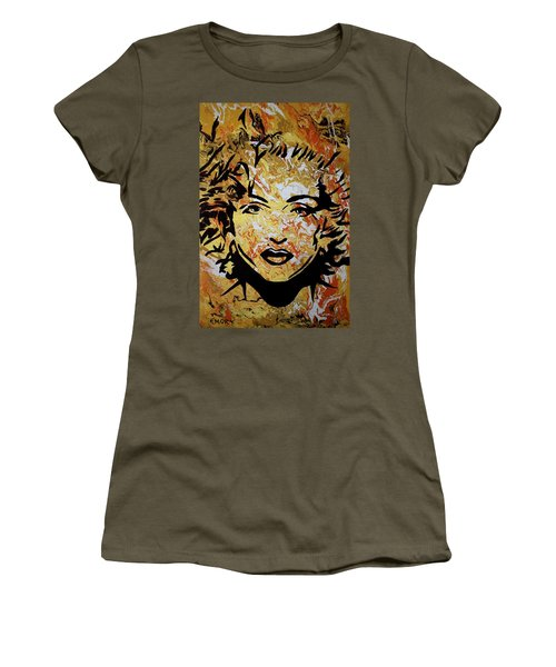 Women's T-Shirt featuring the painting Maddona by Blake Emory