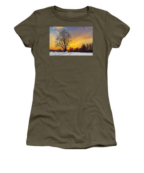 Magical Winter Sunset Women's T-Shirt