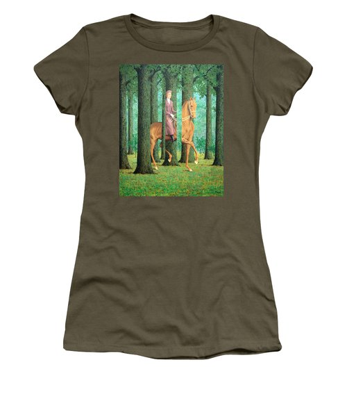 Magritte's The Blank Signature Women's T-Shirt (Athletic Fit)