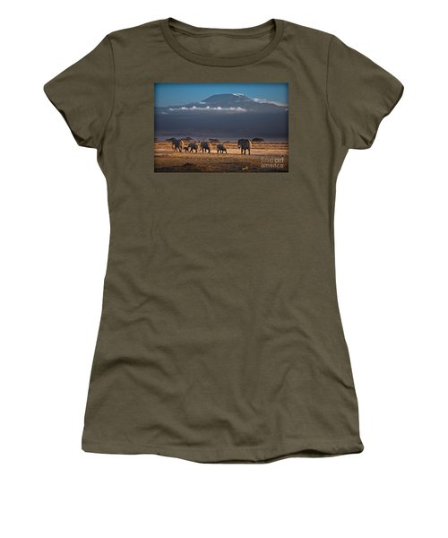 Women's T-Shirt featuring the photograph Majestic Mount Kilimanjaro - Omg by Gary Keesler