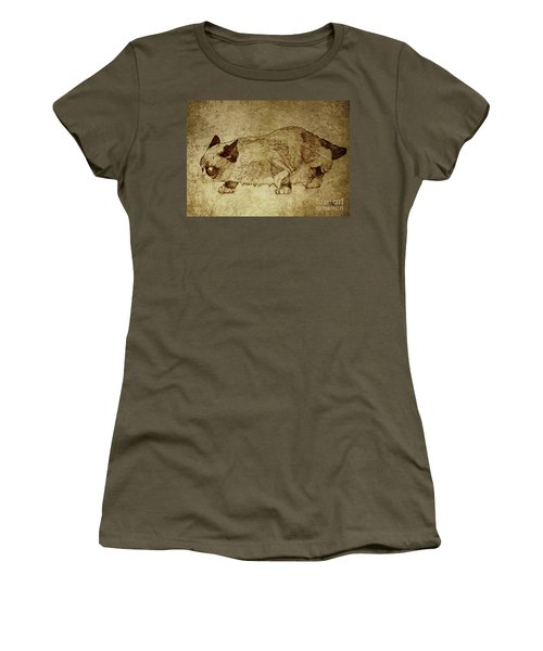 Male Cat Hunts At Night Women's T-Shirt (Athletic Fit)