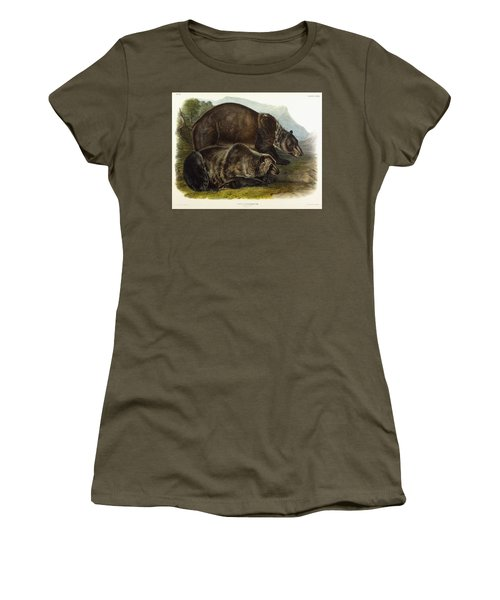 Male Grizzly Bear Women's T-Shirt (Athletic Fit)