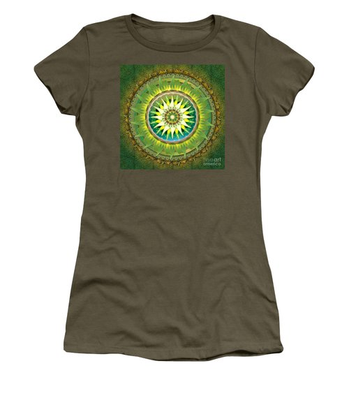 Mandala Green Women's T-Shirt (Athletic Fit)