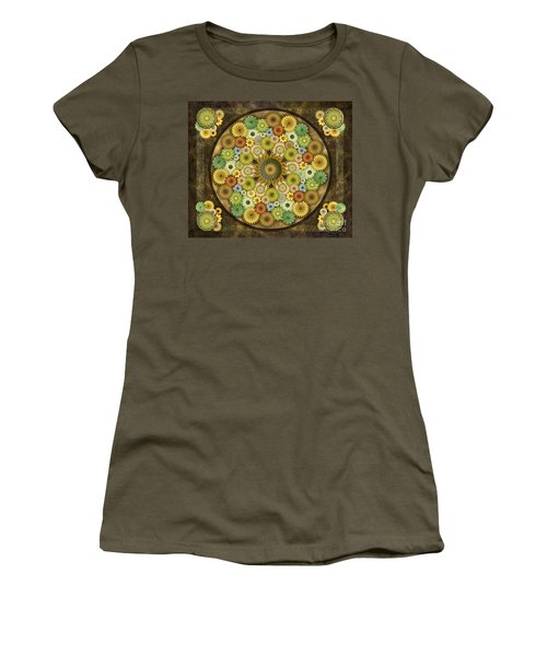 Mandala Stone Flowers Sp Women's T-Shirt (Athletic Fit)