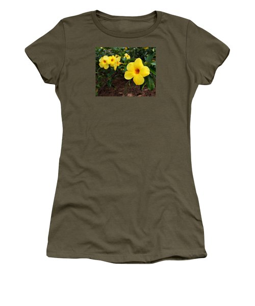 Mandevilla Women's T-Shirt (Junior Cut) by Judy Vincent