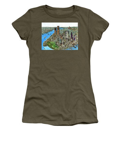 New York Downtown Manhattan 1972 Women's T-Shirt