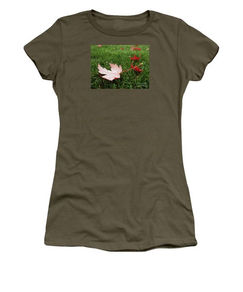 Maple Leaf In Canada Women's T-Shirt