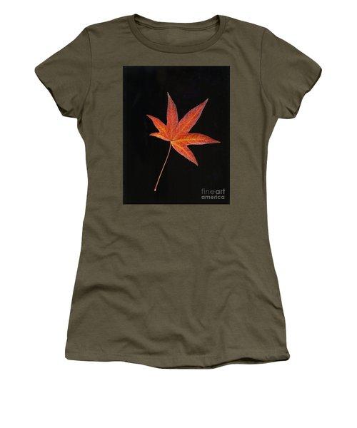 Maple Leaf On Black 2 Women's T-Shirt