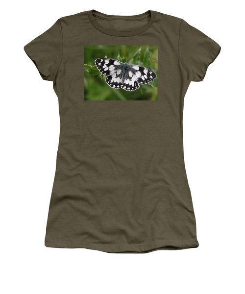 Marbled White Women's T-Shirt (Athletic Fit)