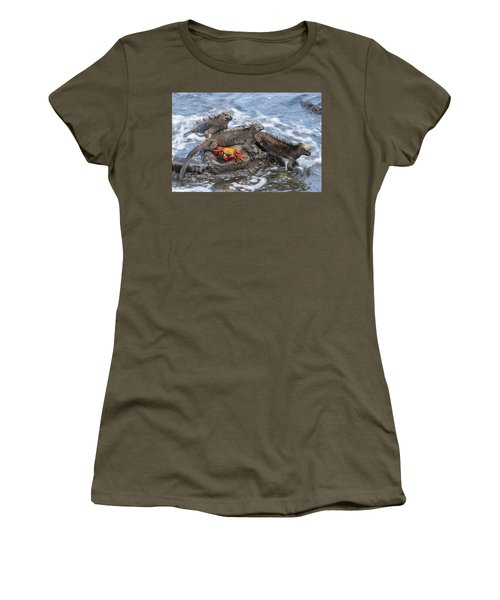 Marine Iguana Trio And Sally Lightfoot Women's T-Shirt