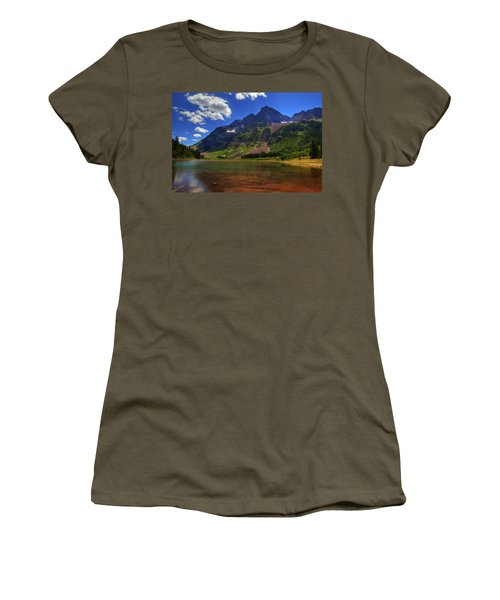 Women's T-Shirt (Junior Cut) featuring the photograph Maroon Bells by Alan Vance Ley