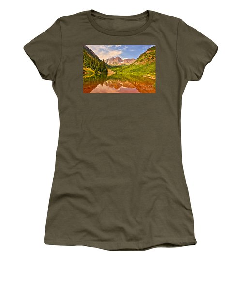 Maroon Bells Summer Women's T-Shirt (Athletic Fit)