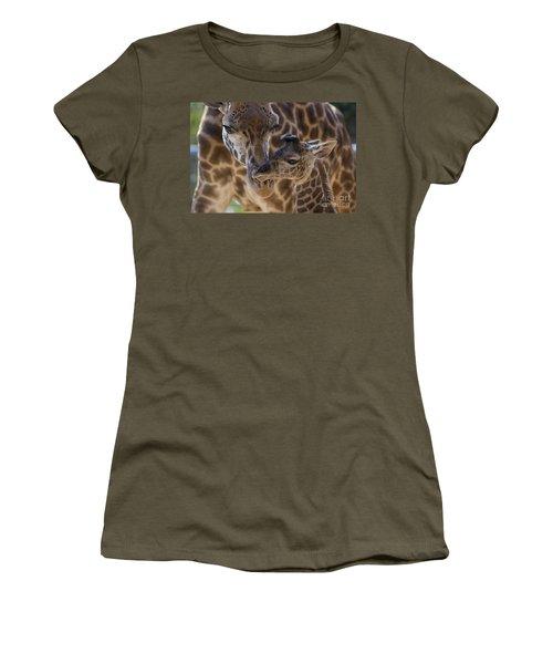 Masai Giraffe And Calf Women's T-Shirt