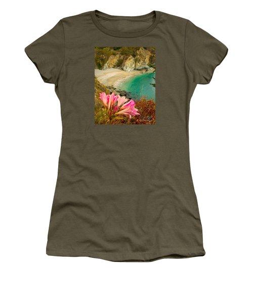 Mcway Falls-3am Adventure Women's T-Shirt (Junior Cut) by David Millenheft