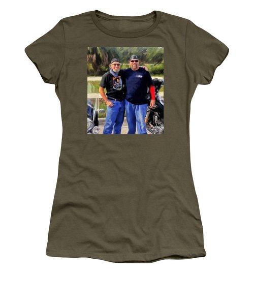 Me N' Bro Women's T-Shirt (Junior Cut) by Michael Pickett