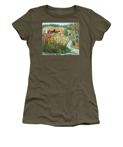 Meadow Farm Women's T-Shirt (Athletic Fit)