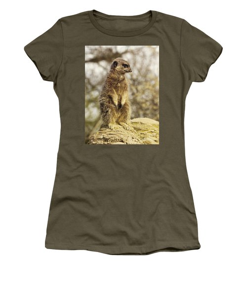 Meerkat On Hill Women's T-Shirt (Athletic Fit)