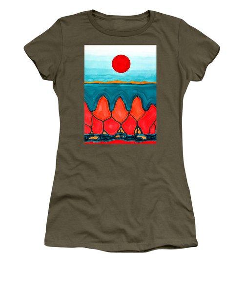 Mesa Canyon Rio Original Painting Women's T-Shirt