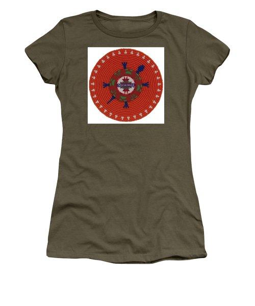 Meskwaki Orange Women's T-Shirt (Athletic Fit)