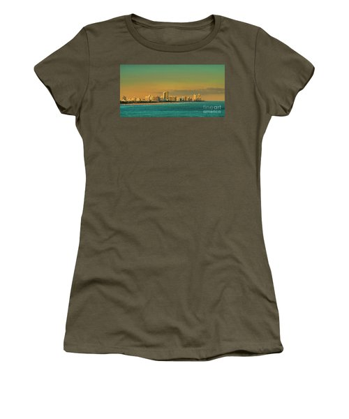 Miami Sunset Women's T-Shirt (Junior Cut) by Olga Hamilton