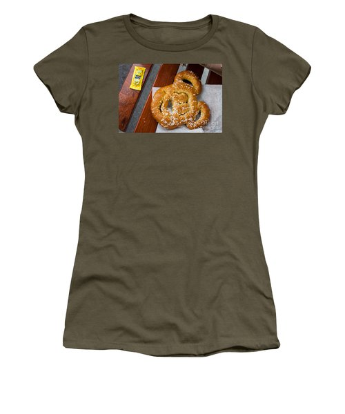 Mickey Mouse Shaped Pretzel Women's T-Shirt