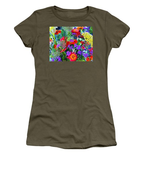 Mid August Bouquet Women's T-Shirt (Athletic Fit)