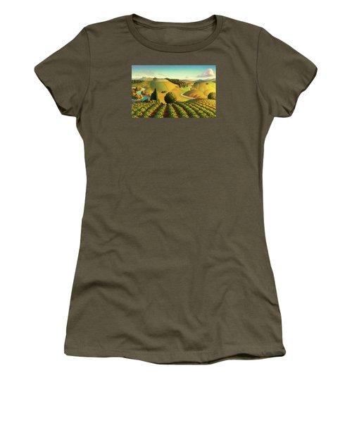Midwest Vineyard Women's T-Shirt (Junior Cut) by Robin Moline