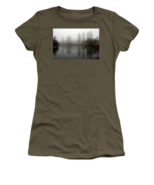 Misty Lake Reflections Women's T-Shirt
