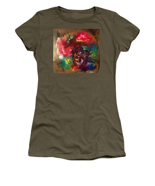 Mixed Media Abstract Post Modern Art By Alfredo Garcia Bizarre Women's T-Shirt (Athletic Fit)