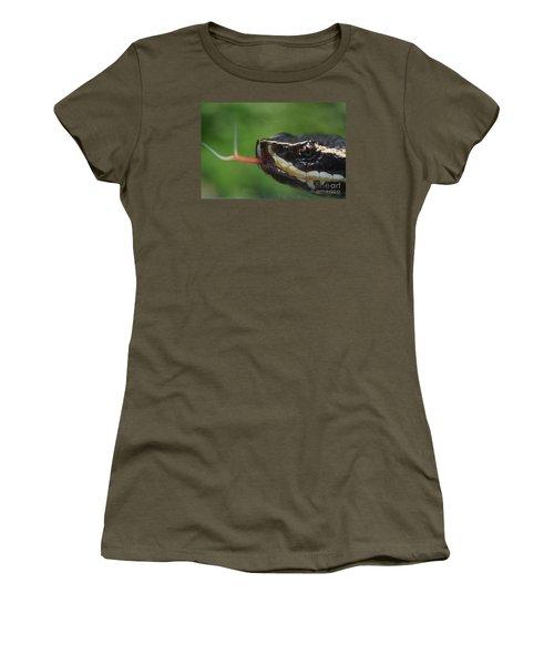 Moccasin Snake Women's T-Shirt (Junior Cut) by Rudi Prott
