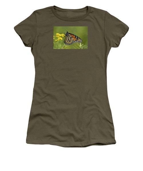Women's T-Shirt (Junior Cut) featuring the photograph Monarch 2014 by Randy Bodkins