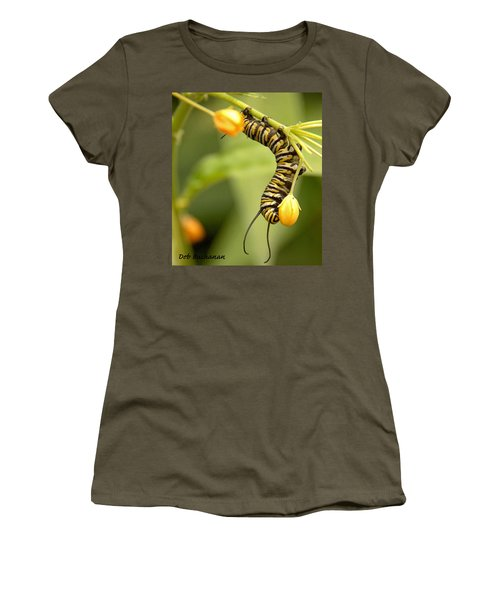 Monarch Caterpillar Women's T-Shirt (Athletic Fit)