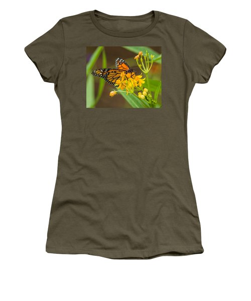 Women's T-Shirt (Junior Cut) featuring the photograph Monarch by Jane Luxton