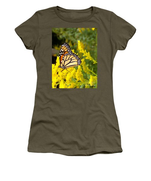 Women's T-Shirt (Junior Cut) featuring the photograph Monarch by Sara  Raber