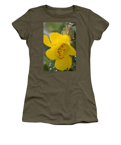 Women's T-Shirt (Junior Cut) featuring the photograph Monkey In Yellow by Sonya Lang