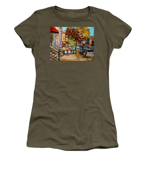 Montreal Streetscenes By Cityscene Artist Carole Spandau Over 500 Montreal Canvas Prints To Choose  Women's T-Shirt