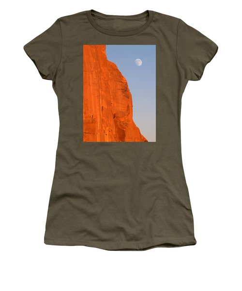 Moon At Monument Valley Women's T-Shirt
