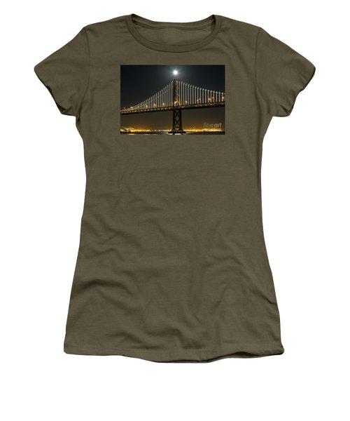 Moon Atop The Bridge Women's T-Shirt