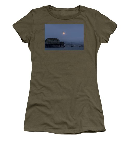 Moonrise Over The Harbor Women's T-Shirt