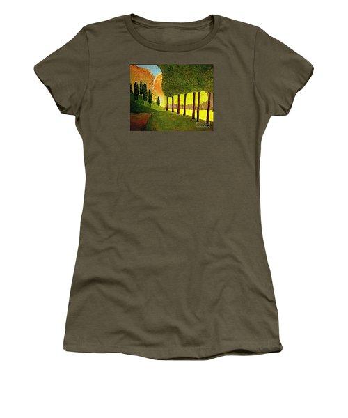 Chambord Morning By Bill O'connor Women's T-Shirt (Junior Cut) by Bill OConnor