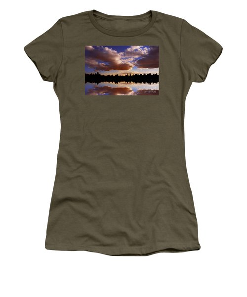 Morning At The Reservoir New York City Usa Women's T-Shirt
