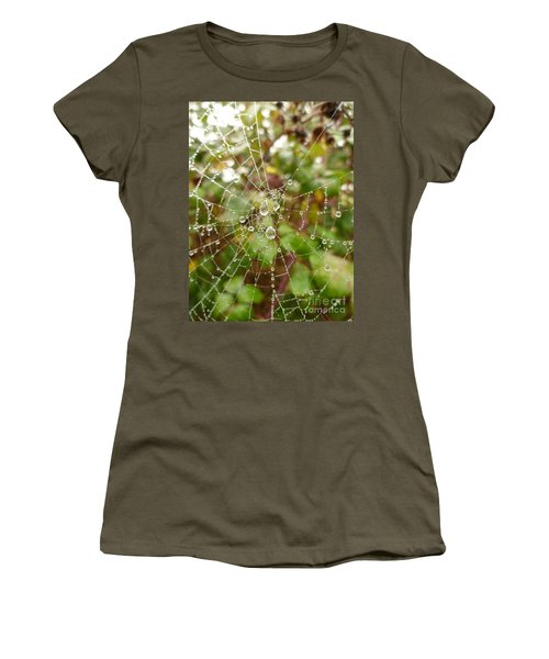 Morning Dew Women's T-Shirt (Junior Cut) by Vicki Spindler